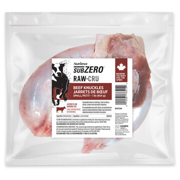 NUTRIENCE SUBZERO RAW BONES - BEEF KNUCKLES 1LB