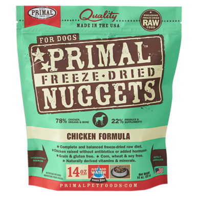 PRIMAL FREEZE-DRIED NUGGETS - CHICKEN 14OZ