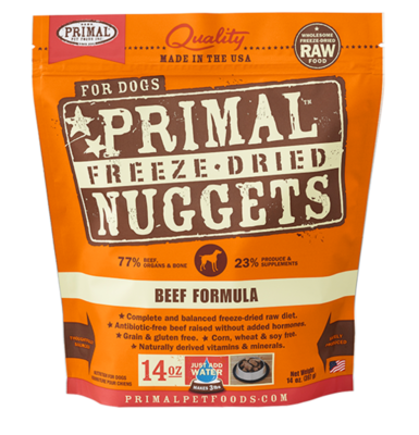PRIMAL FREEZE-DRIED NUGGETS - BEEF 14OZ