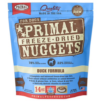 PRIMAL FREEZE-DRIED NUGGETS - DUCK 14OZ