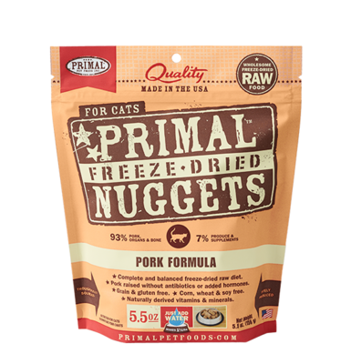 PRIMAL FOR CATS FREEZE-DRIED NUGGETS - PORK 5.5OZ