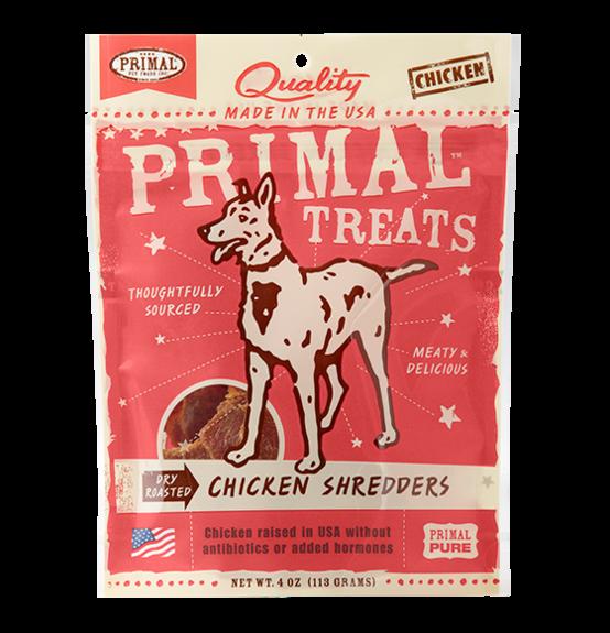 PRIMAL DRY ROASTED CHICKEN SHREDDERS 4OZ