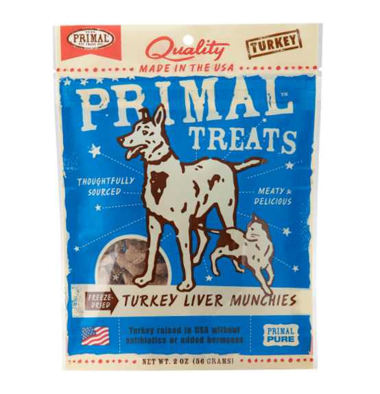 PRIMAL FREEZE-DRIED TURKEY LIVER MUNCHIES 2OZ
