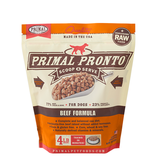 PRIMAL PRONTO RAW FOOD - BEEF 4LB