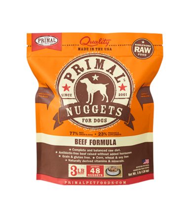 PRIMAL RAW NUGGETS - BEEF 3LB
