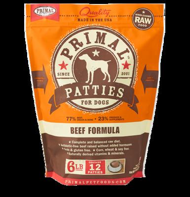 PRIMAL RAW PATTY - BEEF 6LB