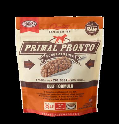 PRIMAL PRONTO RAW FOOD - BEEF 0.75LB