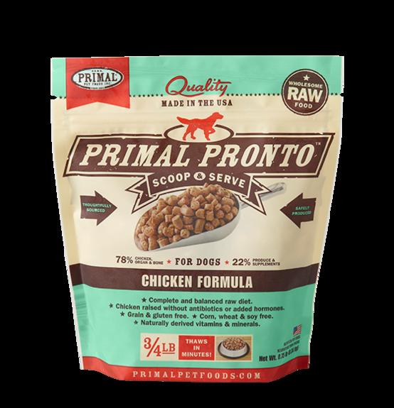 PRIMAL PRONTO RAW FOOD - CHICKEN 0.75LB