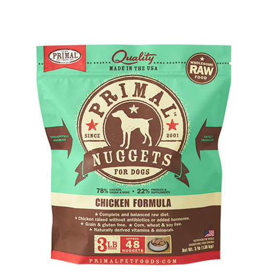 PRIMAL RAW NUGGETS - CHICKEN 3LB