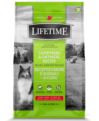 LIFETIME LAMB & OATMEAL 11.4kg