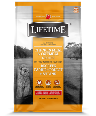 LIFETIME CHICKEN & OATMEAL 11.4KG