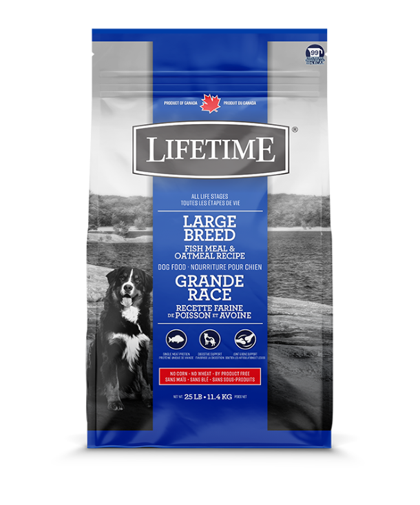 LIFETIME LARGE BREED FISH & OATMEAL 11.4KG