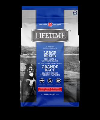 LIFETIME LARGE BREED FISH & OATMEAL 11.4KG