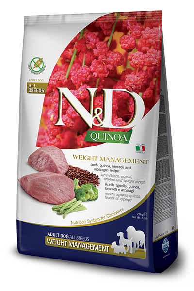 N&D QUINOA FUNCTIONAL CANINE - WEIGHT MANAGEMENT LAMB 5.5LB