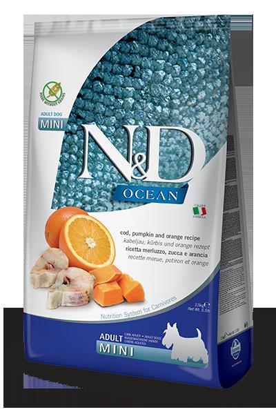 N&D COD, PUMPKIN & ORANGE ADULT MINI 5.5LB