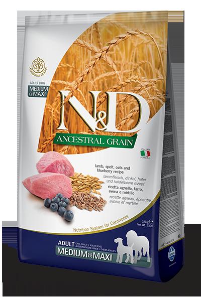 N&D ANCESTRAL GRAIN - LAMB & BLUEBERRY ADULT MAXI 5.5LB