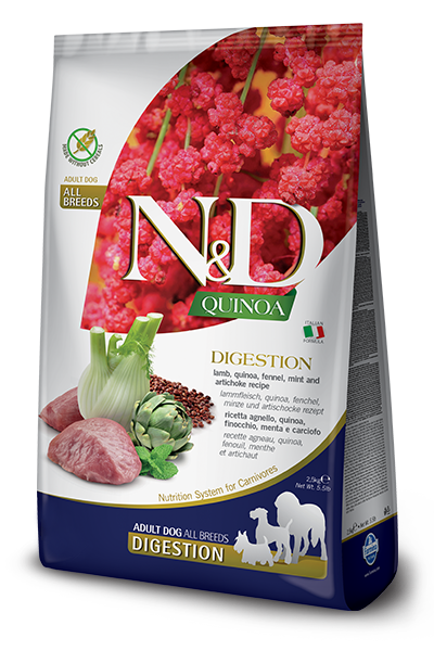N&D QUINOA FUNCTIONAL CANINE - DIGESTION LAMB 5.5LB