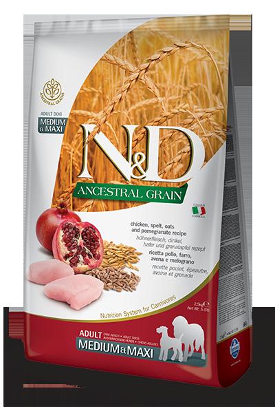 N&D ANCESTRAL GRAIN - CHICKEN & POMEGRANATE ADULT MAXI 5.5LB