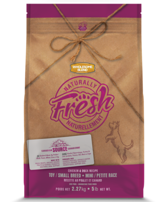 WHOLESOME BLEND NATURALLY FRESH CHICKEN & DUCK TOY & SMALL BREED 2.27KG