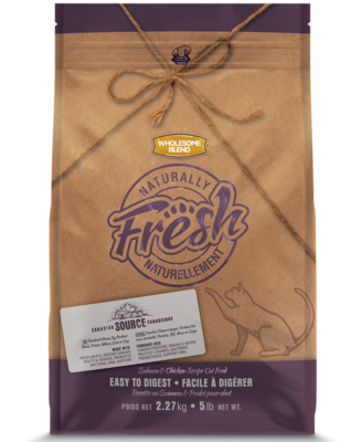 WHOLESOME BLEND NATURALLY FRESH CAT - SALMON & CHICKEN 5KG