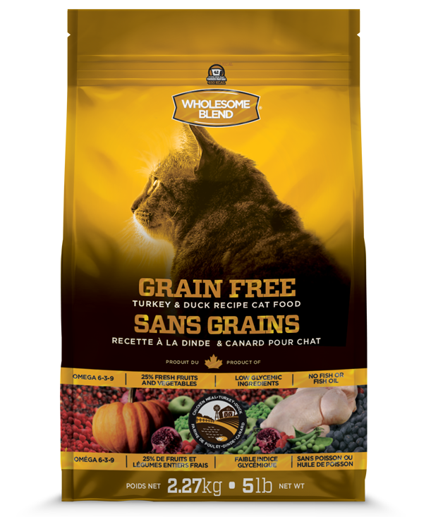 WHOLESOME BLEND LID GRAIN FREE CAT - TURKEY & DUCK 2.27KG