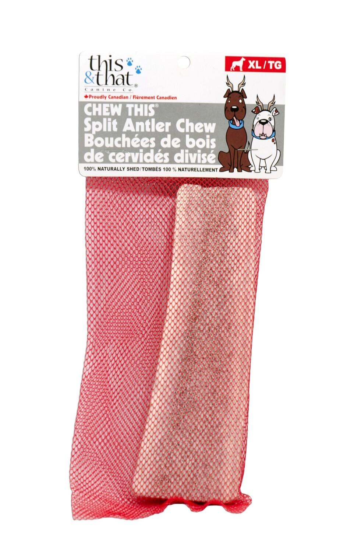 THIS & THAT CHEW THIS - ANTLER CHEW SPLIT XL