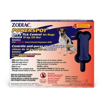 ZODIAC POWERSPOT FLEA & TICK FOR DOGS UNDER 30LB