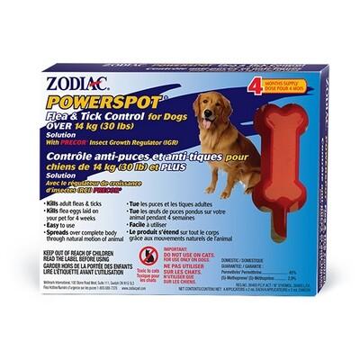 ZODIAC POWERSPOT FLEA & TICK FOR DOGS OVER 30LB