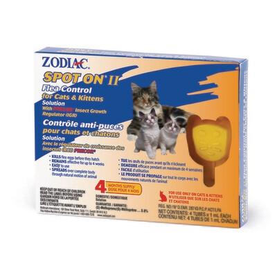 ZODIAC SPOT ON II FLEA CONTROL FOR CATS