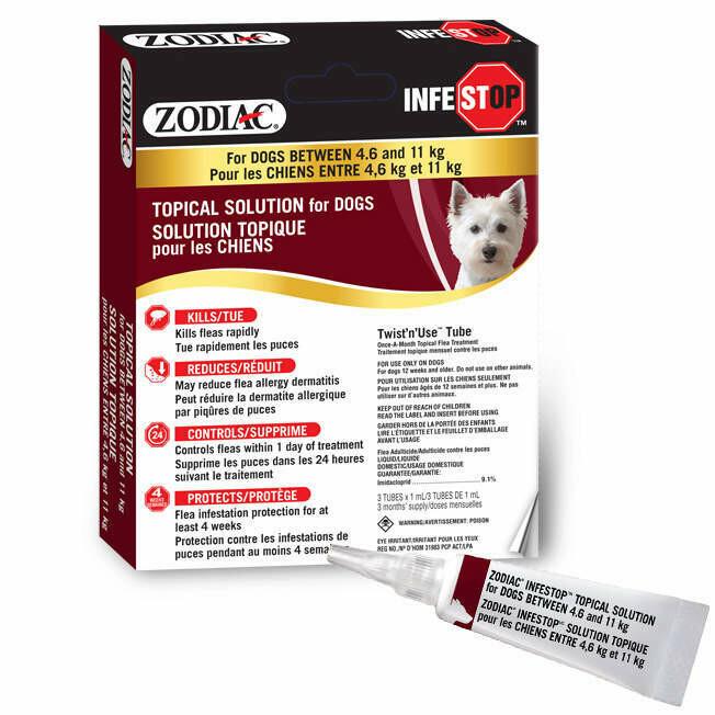 ZODIAC INFESTOP DOG 4.6-11KG