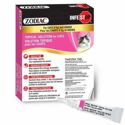 ZODIAC INFESTOP FOR CATS UNDER 4KG