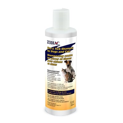 ZODIAC FLEA & TICK SHAMPOO FOR DOGS & CATS 240ML
