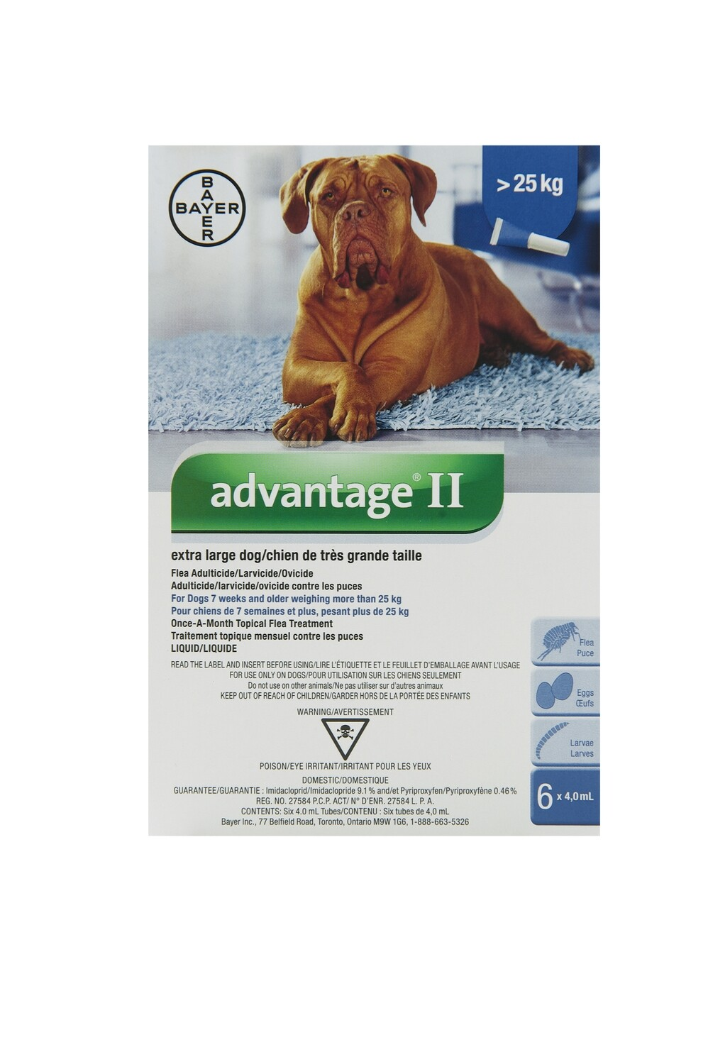 ADVANTAGE II FOR DOGS OVER 25KG
