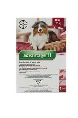 ADVANTAGE II FOR DOGS 11KG - 25KG