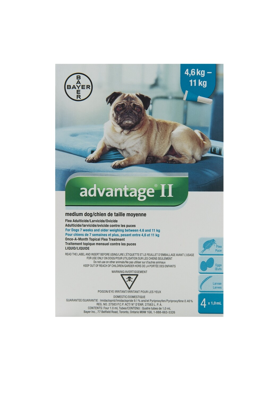 ADVANTAGE II FOR DOGS 4.6KG - 11KG