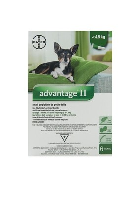 ADVANTAGE II FOR DOGS UNDER 4.5KG