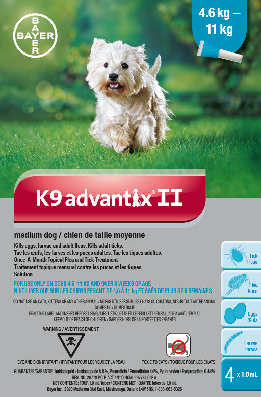 K9 ADVANTIX II FOR DOGS 4.6KG - 11KG