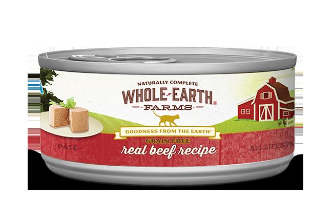 WHOLE EARTH FARMS CAT - GRAIN FREE BEEF 5.5OZ