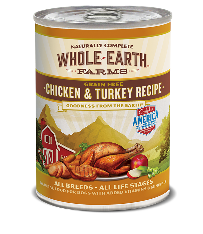 WHOLE EARTH FARMS - GRAIN FREE CHICKEN & TURKEY 12.7OZ