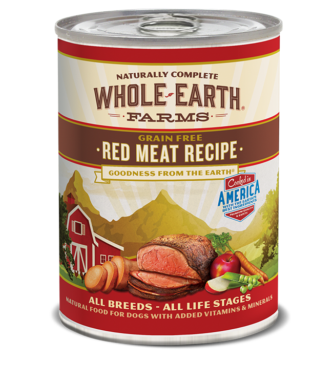 WHOLE EARTH FARMS - GRAIN FREE RED MEAT 12.7OZ