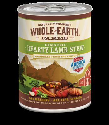 WHOLE EARTH FARMS - GRAIN FREE HEARTY LAMB STEW 12.7OZ