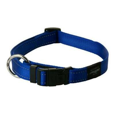 ROGZ CLASSIC COLLAR MEDIUM BLUE REFLECTIVE