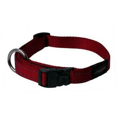 ROGZ CLASSIC COLLAR MEDIUM RED REFLECTIVE