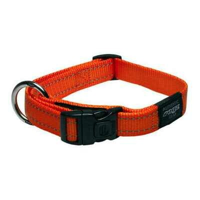 ROGZ CLASSIC COLLAR MEDIUM ORANGE REFLECTIVE