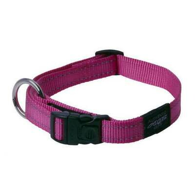 ROGZ CLASSIC COLLAR MEDIUM PINK REFLECTIVE