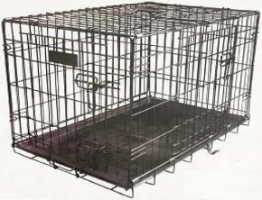 WAG PET PRODUCTS HEAVY DUTY DOG CRATE - LARGE