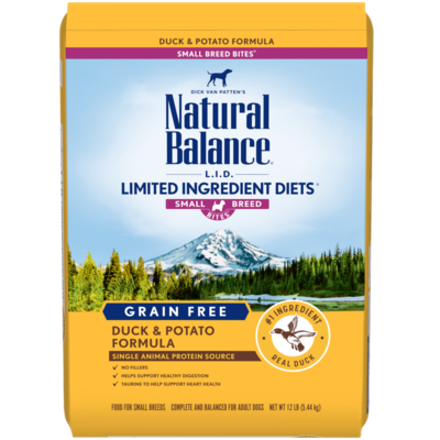 NATURAL BALANCE LID GRAIN FREE SMALL BREED DUCK & POTATO 4.5LB