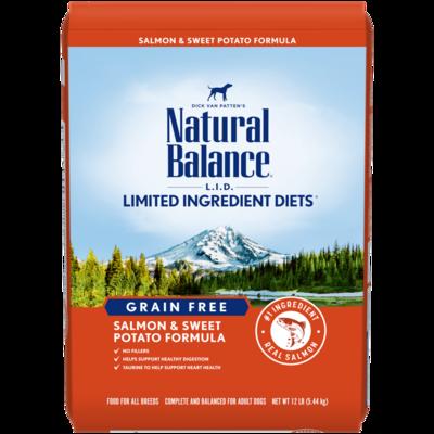 NATURAL BALANCE LID GRAIN FREE SALMON & SWEET POTATO 4.5LB
