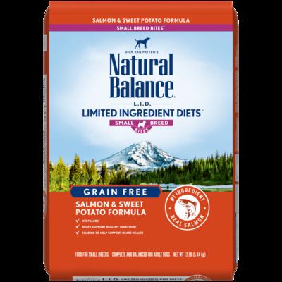 NATURAL BALANCE LID GRAIN FREE SMALL BREED SALMON & SWEET POTATO 4.5LB
