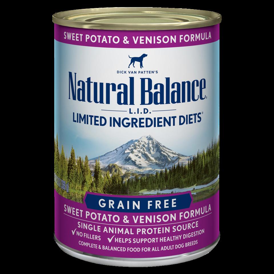 NATURAL BALANCE SWEET POTATO & VENISON CAN 13OZ